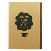 【Owl Products】B6中綴じノート(coffee)