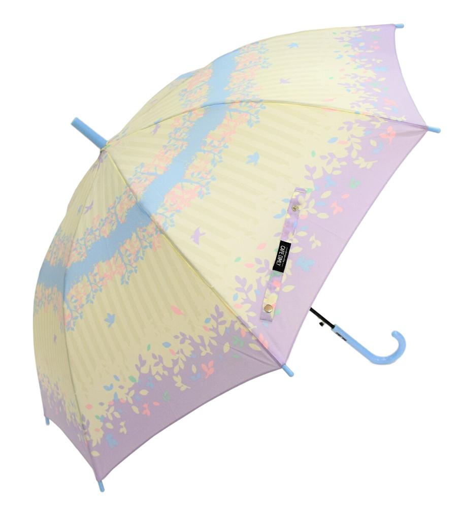 親子でお揃いレディース&キッズ傘 【フォレストバードPU】 60cm