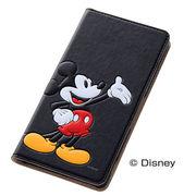 docomo Xperia/SOL26/401SO/【Disney】スマホケースブックカバータイプ ポップアップ ミッキー