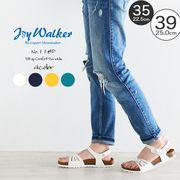 【joy walker】 レディースサイズ アンクルストラップ サンダル 4色