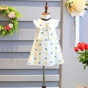 女児 ワンピース 春夏服装 新しいデザイン 児童 人形 シャツ プリンセスドレス 小 鳥