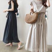 韓国ファッション可愛 レディーズ 合わせやすい カジュアル ワンピース