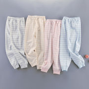 秋冬新作 ルームウェア キッズパジャマ  長袖 韓国子供服 ボトムス 可愛いふわもこ ボア8色