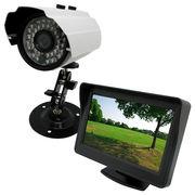 お手軽防犯 リアル監視用向け 屋外防犯カメラと小型モニターセット