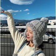 秋新作 レディース 帽子 キャップ  ハット ニット帽 ファー