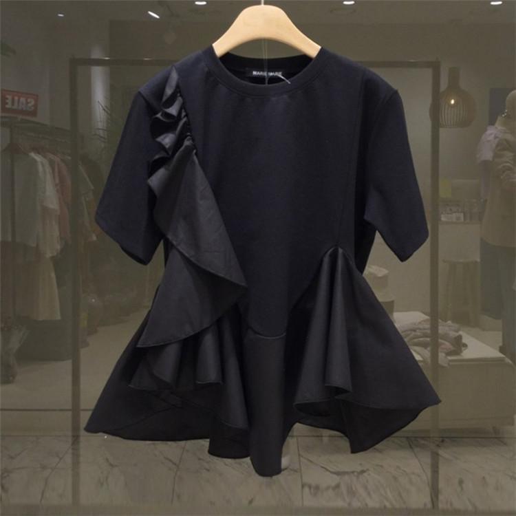 百掛け 裾 フリル デザイン感覚 大人気 新しいスタイル スリム トップス カジュアル 上着