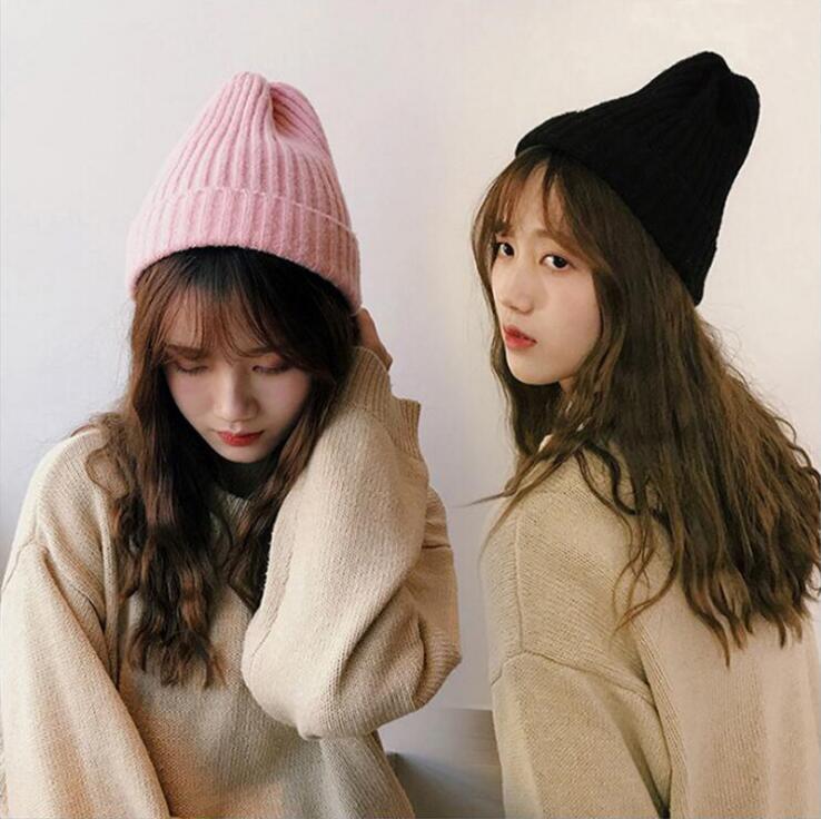秋冬新作 韓国スタイル レディース キャップ ニット帽 INS風★帽子