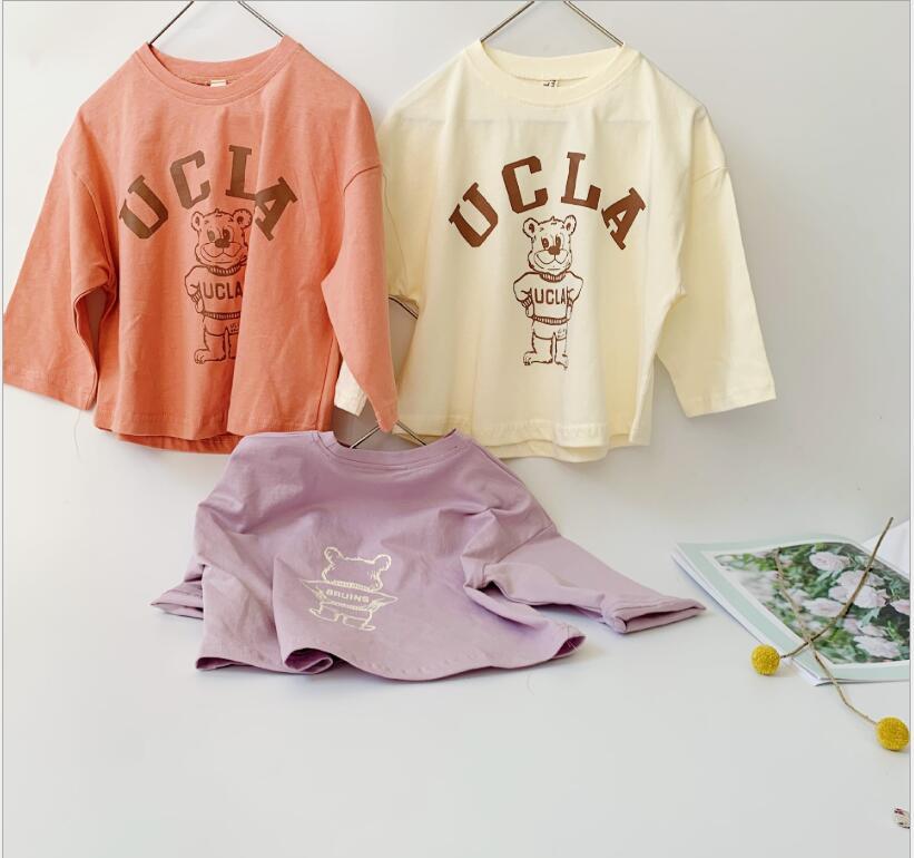 秋冬新作 Tシャツ 長袖シャツ 男女兼用 キッズ服 韓国子供服トップス Tシャツ