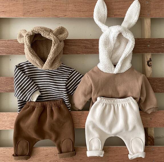子供服  赤ちゃん コート パンツ 男女兼用 裏起毛 キッズ服 2点セット カジュアル系