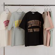 【2021春夏新作】ユニセックス ヘビーウェイト カレッジプリント BIG 半袖 Tシャツ