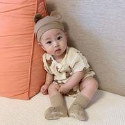 2021年韓国夏新作 小さなクマ ベビー服 半袖 ショーツ スーツ 子供服