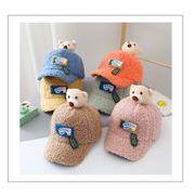 帽子 キャップ キッズ 子ども 秋冬 もこもこ 暖か アニメ クマ かわいい カジュアル トレンド 人気