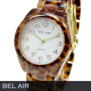 【Bel Air collection】★人気のべっ甲柄 ユニセックス 腕時計 OSD54