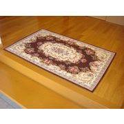 ゴブラン織り玄関マット:ボルドー 90x140 ブラウン