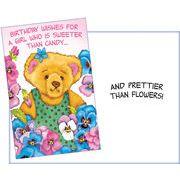 Stockwell Greetings グリーティングカード バースデー くま×フラワー