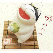 【ご紹介します!和雑貨!ちぎり和紙シリーズ!安心の日本製です】涼み笑い猫(カエル)