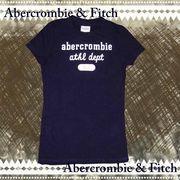正規品【Abercrombie】アバクロンビー★キッズ★ガールズ★ロゴ★92★Tシャツ  ネイビー