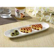 【強化】 さんま皿(12.5号)  長皿/焼き魚皿/寿司皿/すし皿/おうちカフェ/白食器