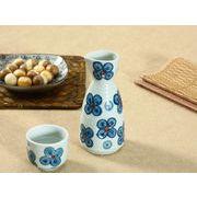 【強化】 徳利 (青い四つ葉)   和食器