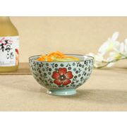 【強化】 4.5号ご飯茶碗(花集い&赤い椿)    おうち料亭/茶碗/お茶漬け/ごはん茶碗/