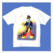 FJK 日本 お土産 Tシャツ 浮世絵 Sサイズ (ホワイト)No.1-S