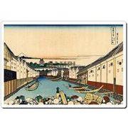 日本 (JaPan) 浮世絵 (Ukiyoe) マウスパッド 4004 葛飾北斎 - 江戸日本橋 【代引不可】 [在庫有]