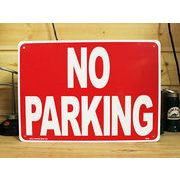 アメリカン雑貨 看板 プラスチックサインボード 駐車禁止 No Parking ノーパーキング CA-08