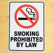 アメリカン雑貨 看板 プラスチックサインボード 禁煙 Smoking Prohibited by Law CA-25