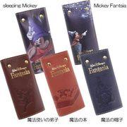 【ギフトに人気】ミッキーマウス レザーキーケース