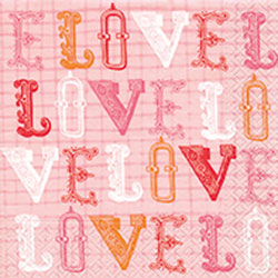 Paper+Design ペーパーナプキン LOVE