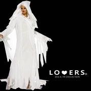 ハロウィン 2点セット ホワイト魔女 【即納】女王 コスチューム 衣装 仮装 大人用