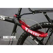 自転車・バイク用ダイヤル式チェーンロック(赤)TY-732