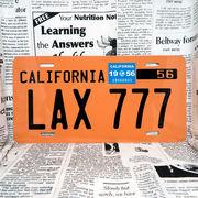 好きな文字にできるアメリカナンバープレート(大・US車用サイズ)カリフォルニア50年代