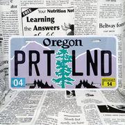 好きな文字にできるアメリカナンバープレート(大・US車用サイズ)オレゴン