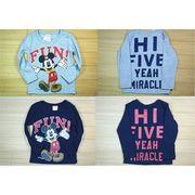 ディズニー ミッキーマウス 薄手長袖Tシャツ☆  90cm~130cm 綿100%