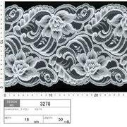 【メーカー直販】★レース巾18cm 大きめの花柄デザインのラッセルレース 5m~/オフ白