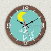 MYCLO 「アニマル」シリーズ時計 05 ねこちゃん イラストオリジナル 文字盤時計
