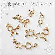 単価19.8円♪ハンドメイド♪金属チャーム・パーツ♪化学モチーフ