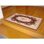 ゴブラン織り玄関マット:ボルドー 70x120 ブラウン