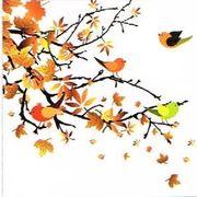 Paw Decor  Collection ペーパーナプキン 鳥×葉