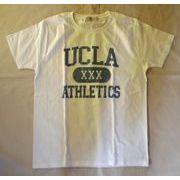 カレッジTEE◎カリフォルニア大学 ロサンゼルス校/UCLA☆クラック風プリントTシャツ