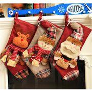 2017冬 雑貨 飾り付け 靴下 クリスマス 装飾 クリスマスツリー サンタ トナカイ