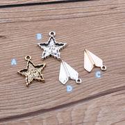 デコレーション 可愛い星と紙飛行機パーツ - 手芸 クラフト 生地 材料   全4色