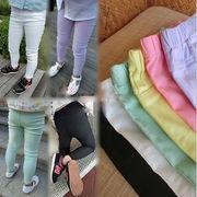 秋 新しいデザイン キッズ洋服 ファッション キャンディカラー ズボン 女児 レギンス