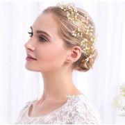おしゃれお花デザインウェディング ヘアアクセサリー - ヘッドドレス 髪飾り   全1色