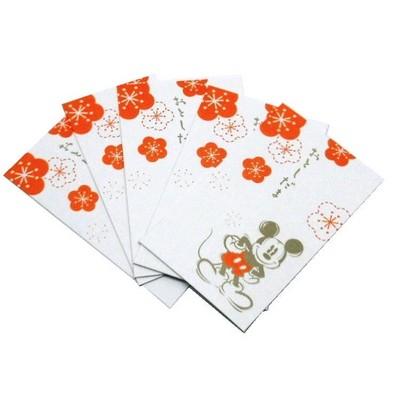 《ミッキーマウス》 ポチ袋 お年玉袋5枚入り・定番サイズ