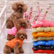 犬服 綿コート 7色入荷 ペット服 冬 ペット用品 ドッグ 厚手 ベスト