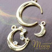 """★L&A Original Parts★K16GP★美しきゴールドcolor★三日月♪ムーンチャーム♪""""crescent moon"""""""