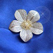 ピンブローチ 梅の花 ストールピン ハットピン ピンバッジ フラワー