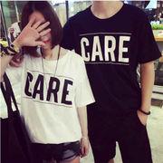 ★カップルTシャツ★トップス★半袖★★シンプル★全2色(M-XL)